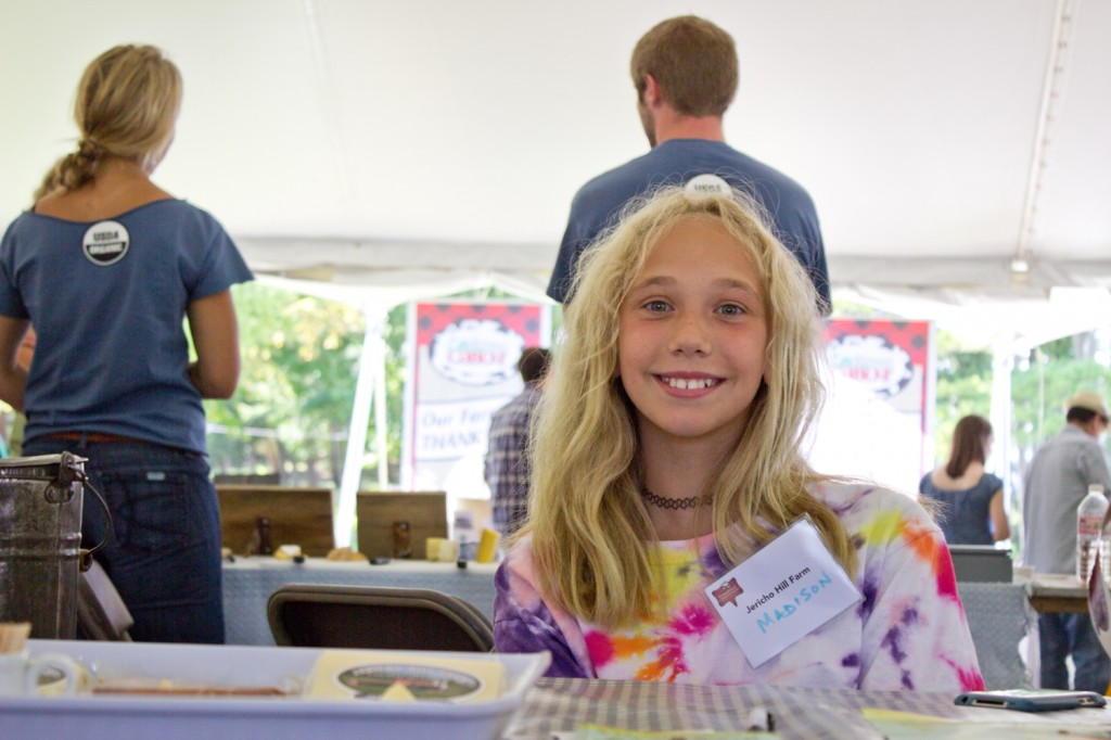 Quite possibly the youngest cheesemaker of the bunch - Madison from Jericho Hill Farm.