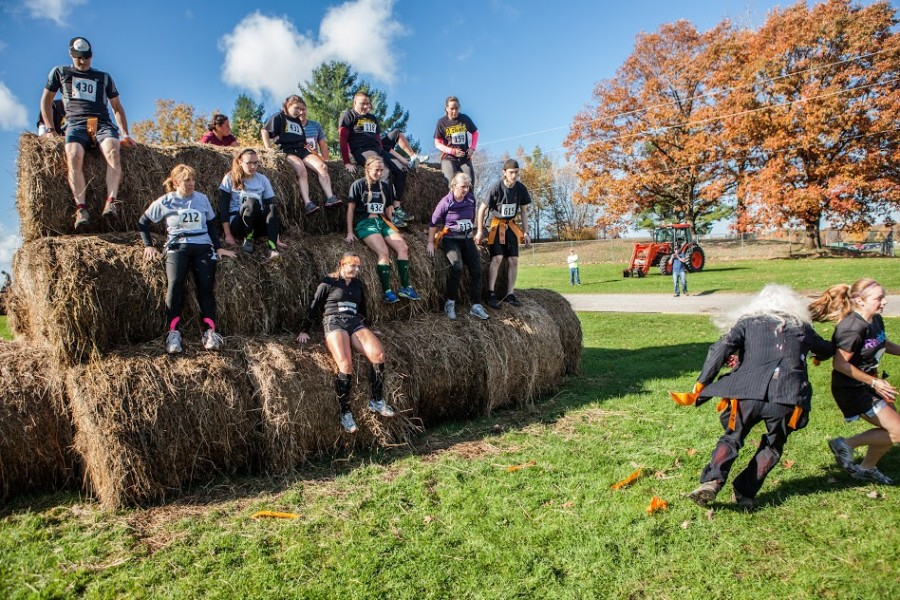 Zombie Run Hay Bale Obstacle