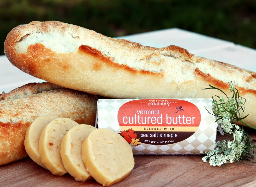 Vermont Creamery Cultured Butter with Bread
