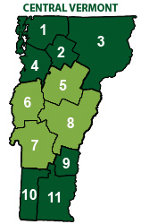 Map - Central Vermont