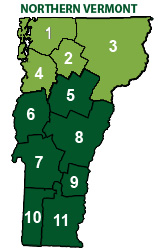 Map - Northern Vermont
