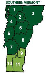 Map - Southern Vermont